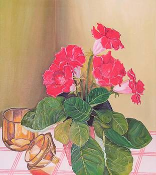 Country kitchen table by Ewald Smykomsky