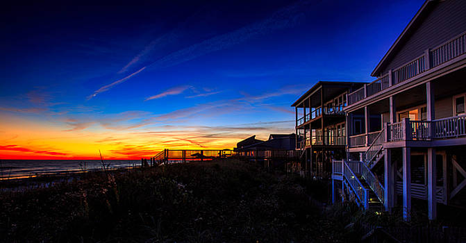Crescent Moon Sunset by Nick Noble