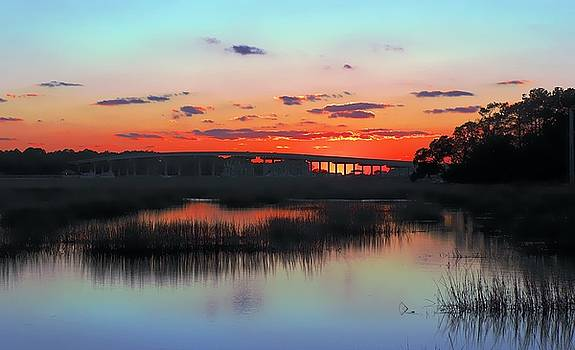 Cross Island Bridge Sunset by William Bosley