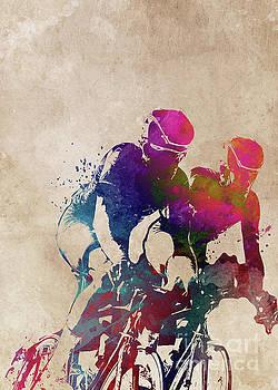 Cycling sport art by Justyna JBJart