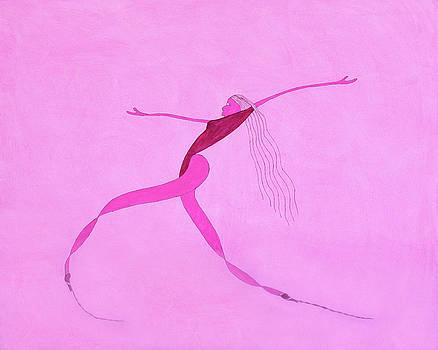 Dancer #3 - Homage to Hirschfeld by Lyric Artists Ken Tesoriere