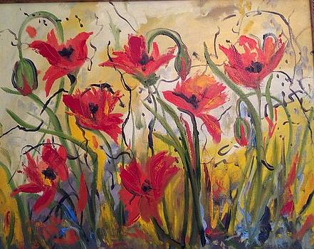Dancing Poppies by Susan Hanning