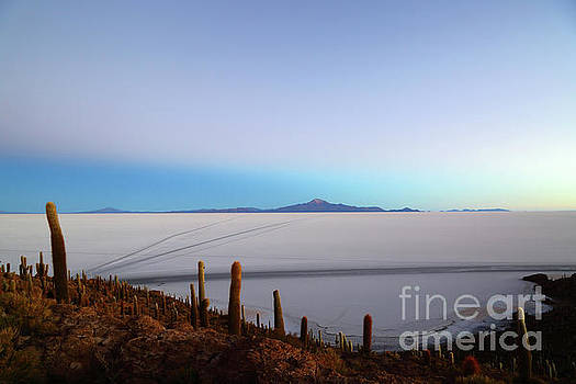 Dawn Twilight Over the Salar de Uyuni Bolivia by James Brunker