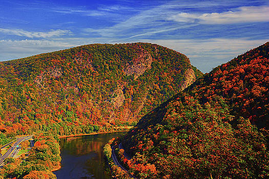 Delaware Water Gap in the Fall by Raymond Salani III