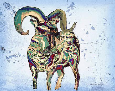 Kae Cheatham - Digital Bighorn Ram