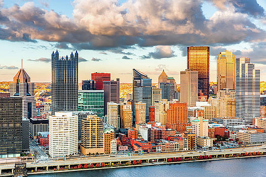 Downtown Pittsburgh by Mihai Andritoiu