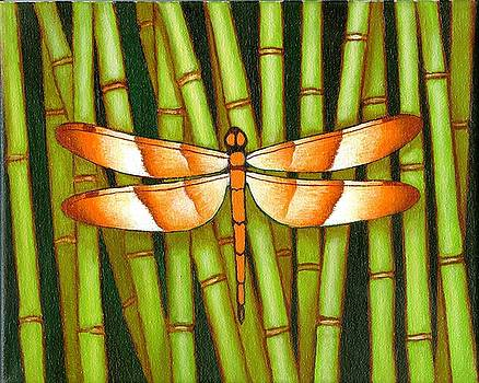 Dragon Fly and Bamboo by Jane Whiting Chrzanoska