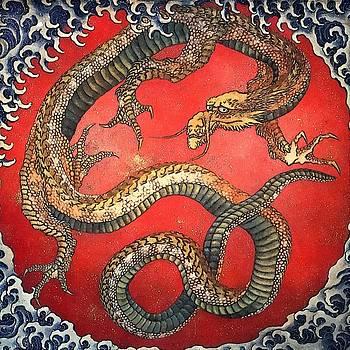 Katsushika Hokusai - Dragon