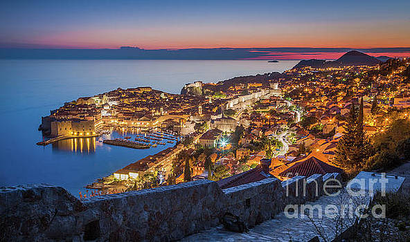 Dubrovnik Twilight Panorama by JR Photography