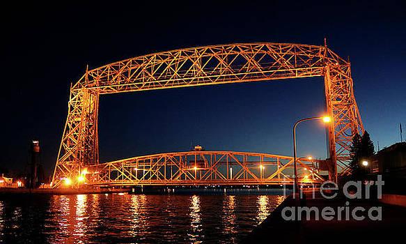 Duluth MN Aerial Lift Bridge by Lori Tordsen