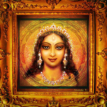 Durga in the Sri Yantra  by Ananda Vdovic