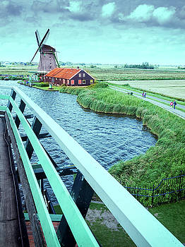 Dutch windmills from Zaanse Schans, Amsterdam, the Netherlands by Alfio Finocchiaro
