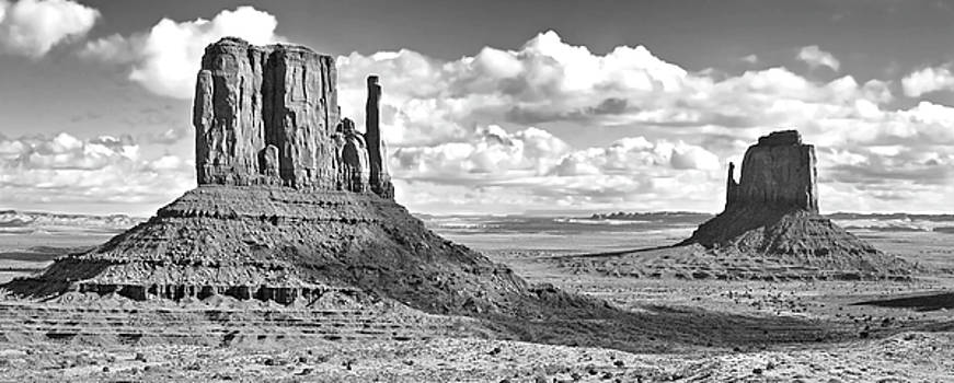 East And West Mittens bw by Jerry Fornarotto