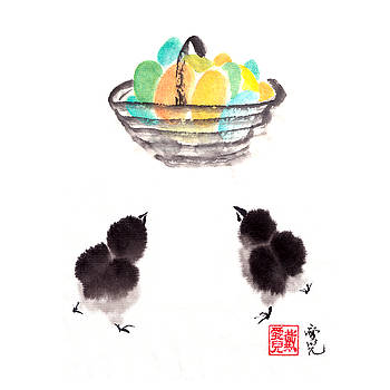 Easter Chicks by Oiyee At Oystudio