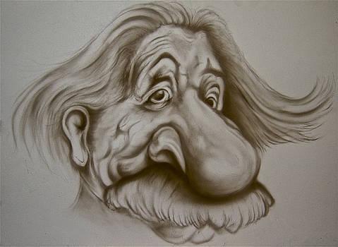 Einstein Caricature by Steve Vanhemelryck