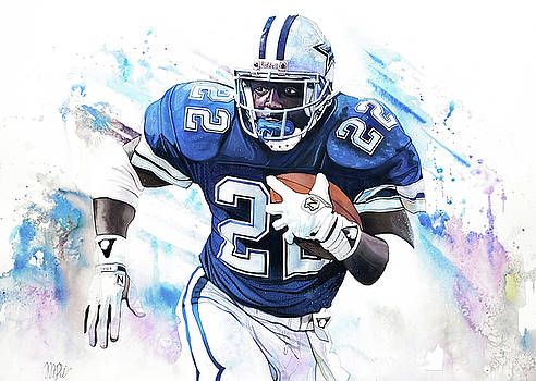 Emmitt Smith 90's Greats by Michael Pattison