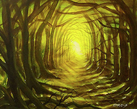 Enchanted Green Forest by Emma Childs