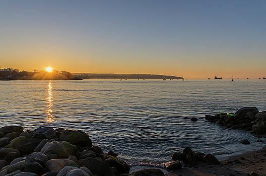 Ross G Strachan - English Bay Sunset