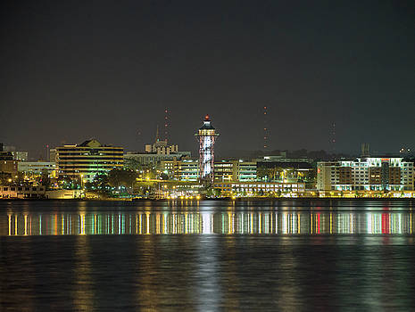 Erie PA at Night by Brian Fisher