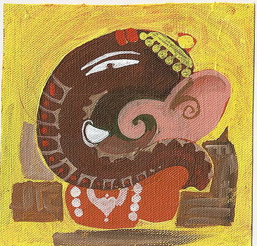 Elegant Lord Ganesha Painting by Chintaman Rudra