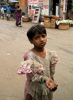 Faces of India - Begging Child by Steve Rudolph