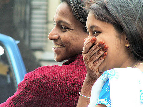 Faces of India - Happy Couple by Steve Rudolph