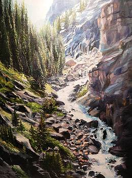 Falls Below Rimrock Lake by Patti Gordon
