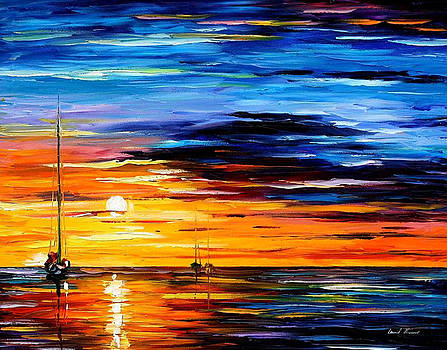 Far And Away - PALETTE KNIFE Oil Painting On Canvas By Leonid Afremov by Leonid Afremov