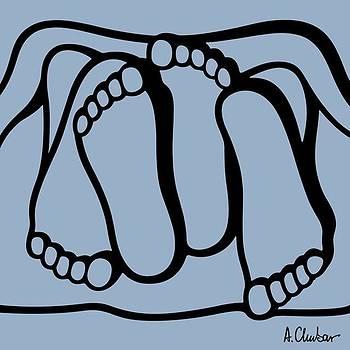 Feet By Alexander Chubar  #abstract by Alexander Chubar
