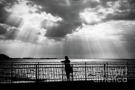 Female Silhouette Sea by Aleksey Tugolukov