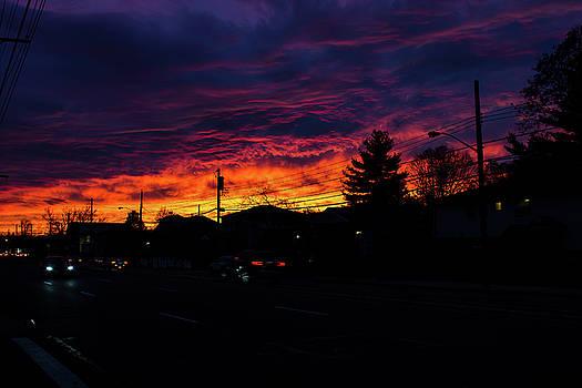 Fiery Sunset by William Cruz