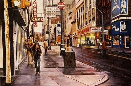 Fifth Avenue In The 80s by James Guentner