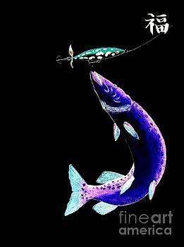 Fishermans Dream Striking Pike by Gordon Lavender