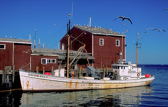 Fishing boat in Nova Scotia by Carl Purcell