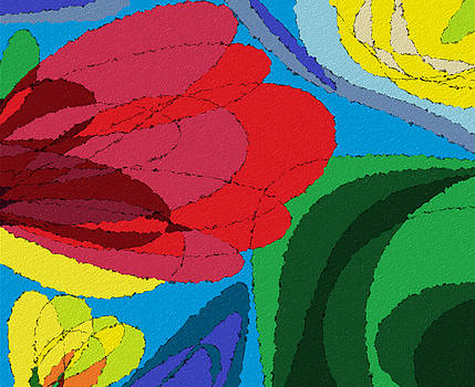 Flower Abstract by Ed Berlyn