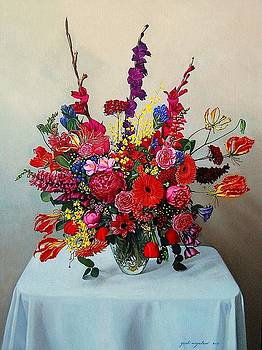 Flower Arrangement in Red and Yellow by Yoshi Mizutani