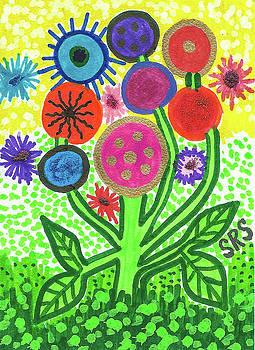 Flowers In The Round 9.7 by Susan Schanerman