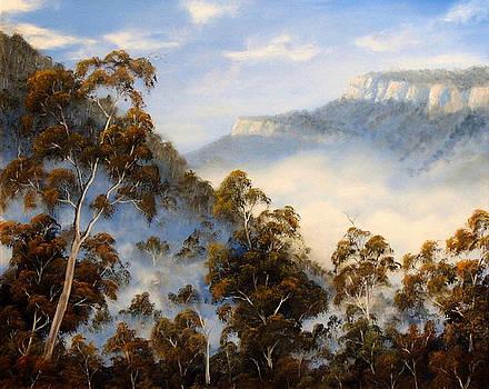 Fog Below The Escarpments by John Cocoris