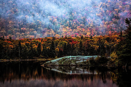 Foggy foliage morning by Jeff Folger