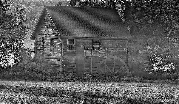Foggy Morning Mill by Richard Bean