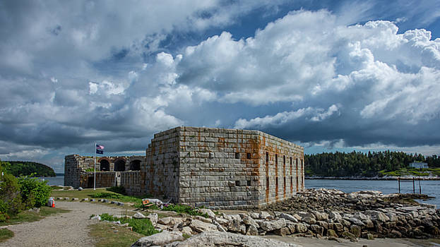 Fort Popham by Guy Whiteley