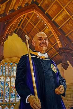 Frank Bellamy at St John's Cathedral  by Mitzisan Art LLC