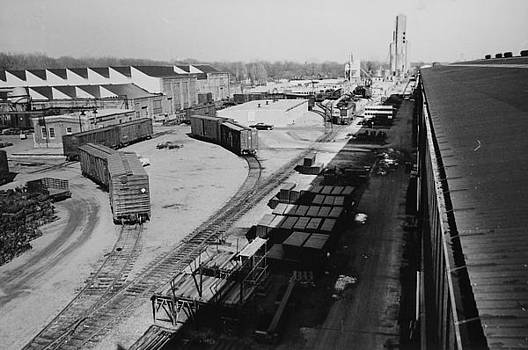 Chicago and North Western Historical Society - Freight Cars in Line at Clinton Machine Shop