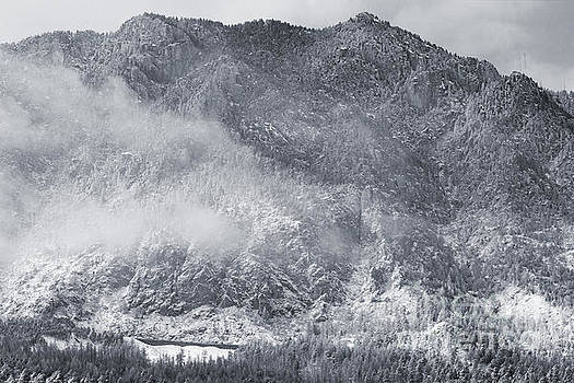 Steve Krull - Mist and snow on Cheyenne Mountain Colorado