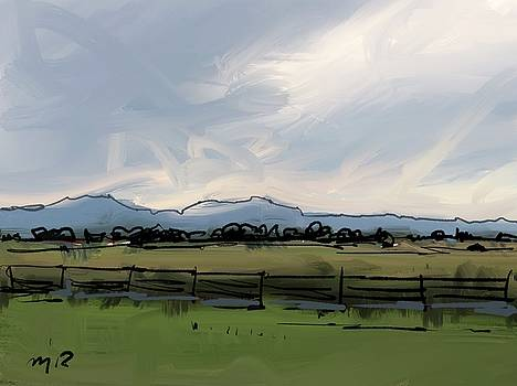 Front Range at Boulder by Ugljesa Janjic