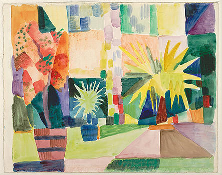 August Macke - Garden On Lake Thun