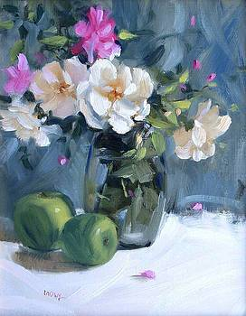 Garden Roses by Judy Crowe