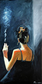 Girl with Cigaret by Francoise Lynch