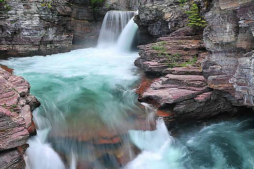 Glacier National Park St Mary's Falls by Dean Hueber