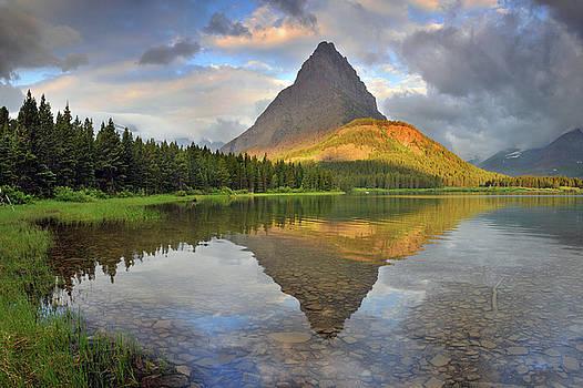 Glacier National Park Swiftcurrent Lake by Dean Hueber